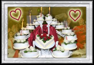 Eine von Reiner´s Spezialitäten: Die Hochzeitsstorte
