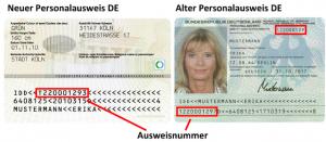 Wo sind die Personalausweisnummern zu finden?