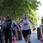 Dr. Christian Riedel, als 2. bester Deutscher, beim Start.