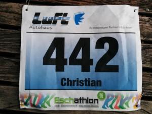 Startnummer 442 von Christian beim Eschathlon