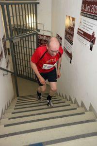 Initiator Michael Lederer beim Treppenlauf
