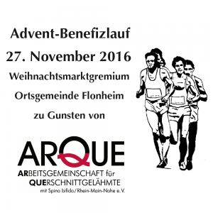 Werbeanzeige für den Flonheimer Adventslauf am 27.11.2016