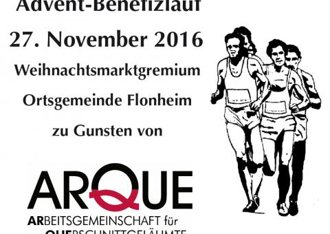 Plakat mit Werbung für den Flonheimer Benefizlauf