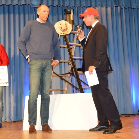Arnd Zinnhardt, Software AG und Michael Lederer auf der Bühne des RunUp. ©Byung-Hun Park, Software AG