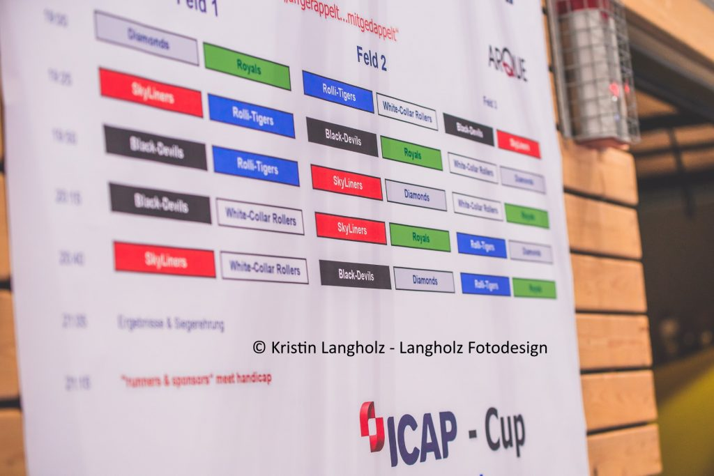 ICAP-Cup Plakat der Spielansetzungen Photo: Kristin Langholz