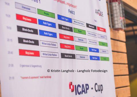 ICAP-Cup Plakat der Spielansetzungen