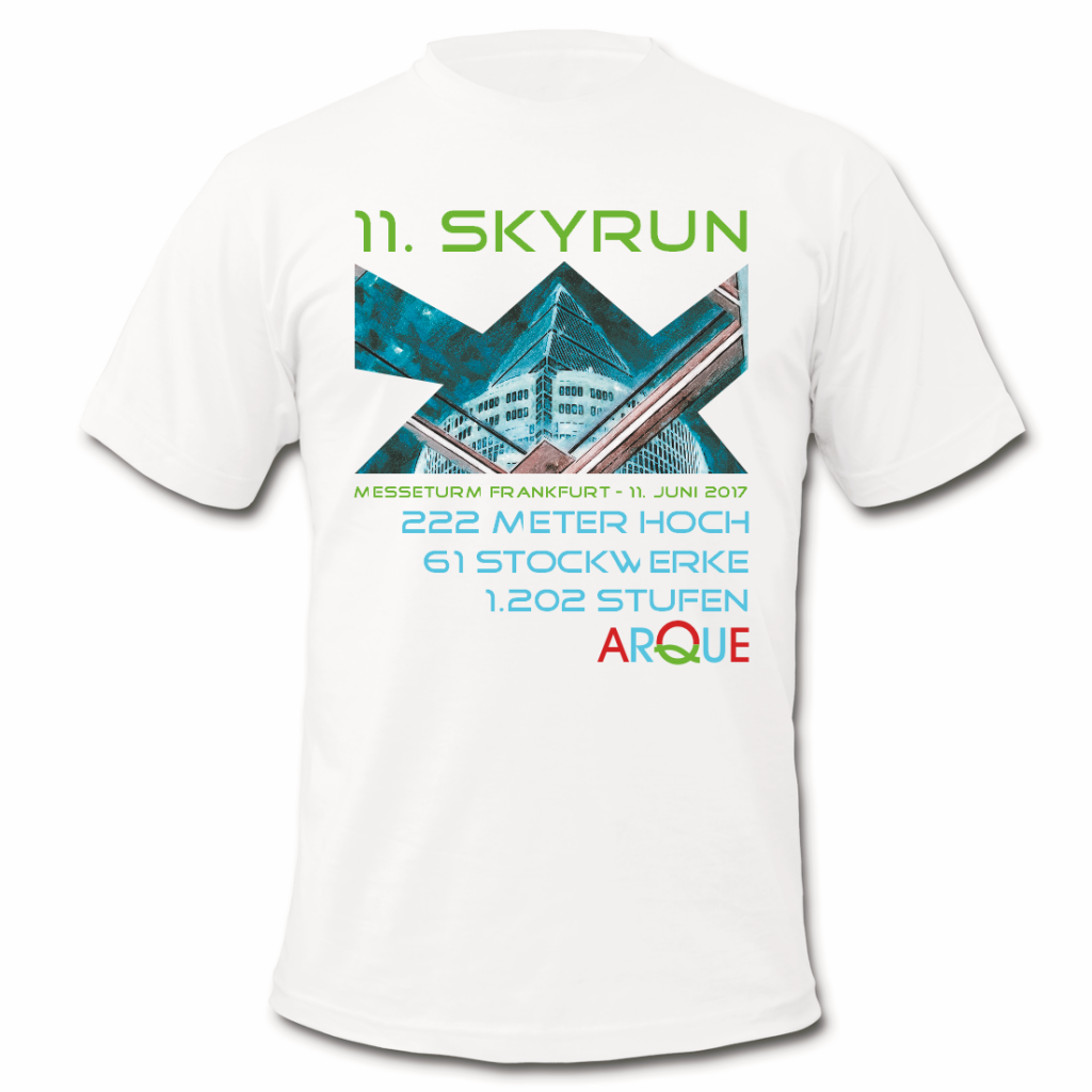 Shirtentwurf zum SkyRun 2017