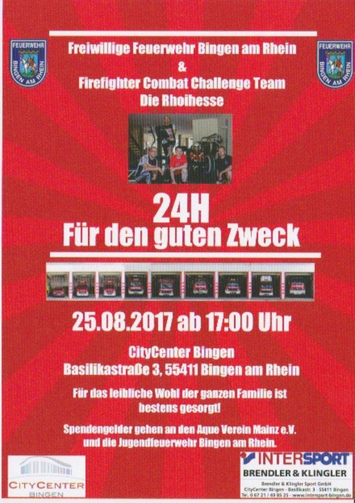 Plakat für das Feuerwehrevent in Bingen