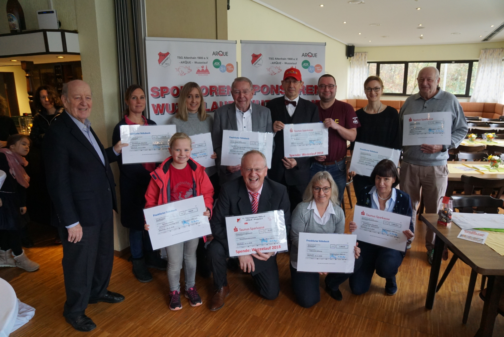 Spendenübergabe TSG Altenhain 2018 (Foto von TSG)