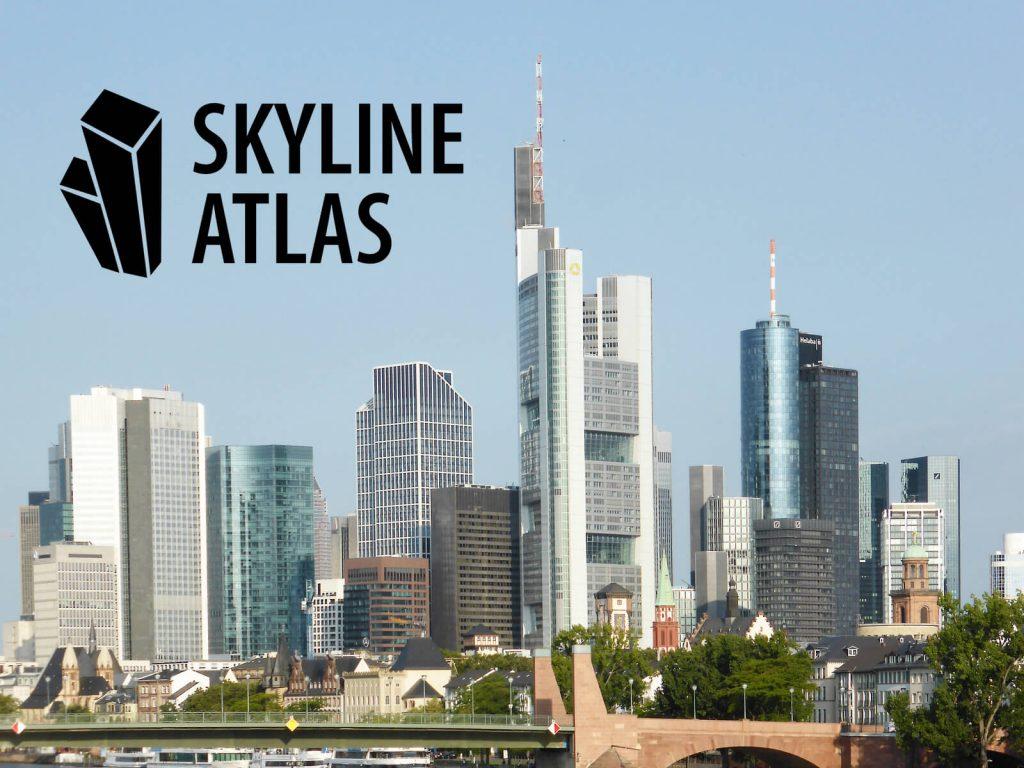 Frankfurter Skyline mit Schriftzug zum Skyline Atlas