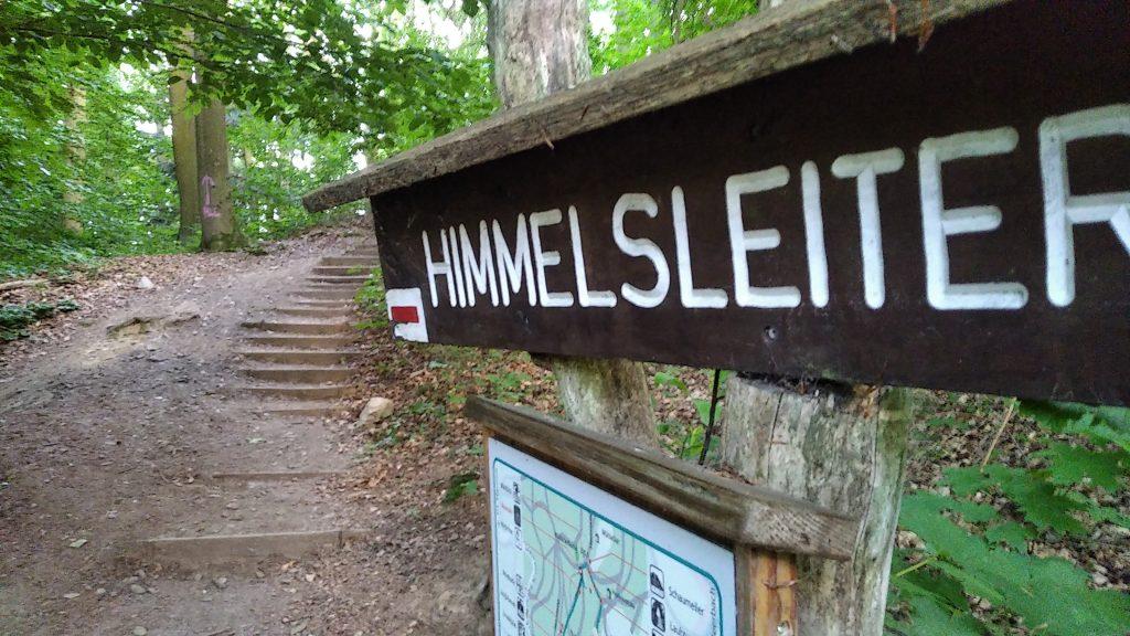 Bild der 'Himmelsleiter', ein Treppenabschnitt am Frankenstein